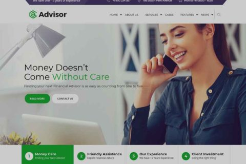 Advisory Service WordPress Website Design