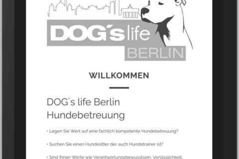 DogWalker Website Design WordPress