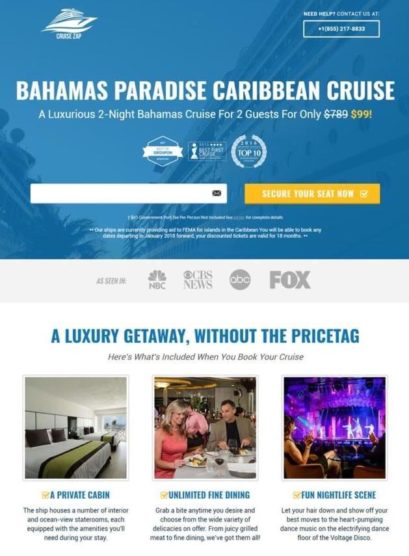 sfwpexperts.com-landing-page-examples-cruise-travel